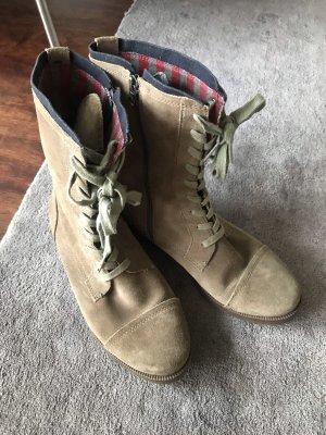 Tommy Hilfiger Aanrijg laarzen beige-bruin