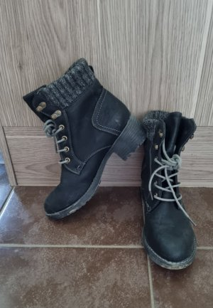 Lace-up Boots black-grey