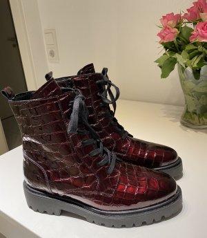 Mrs & HUGS Aanrijg laarzen bordeaux-zwart