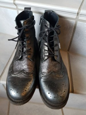 Bronx Chukka boot noir-argenté