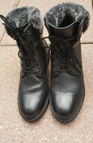 Fotini Bottes de neige noir cuir