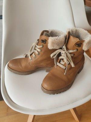 Botines de invierno marrón claro-beige