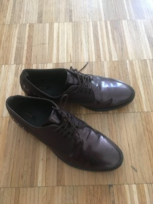Geox Wingtip Shoes brown red leather