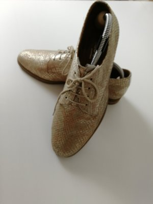 Gabor Wingtip Shoes gold-colored