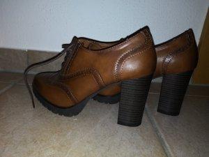 Graceland Escarpins à lacets noir-brun