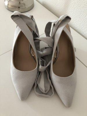 H&M Lace-up Pumps light grey