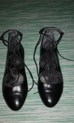 Marco Tozzi Slingback ballerina's zwart