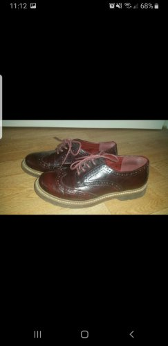Deichmann Wingtip Shoes bordeaux