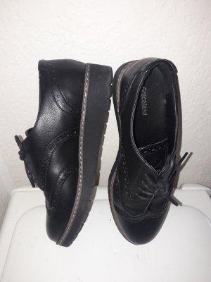 Graceland Lace Shoes black-light brown