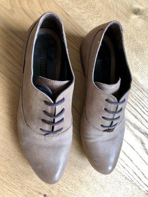Bugatti Sznurowane buty szaro-brązowy-taupe Skóra