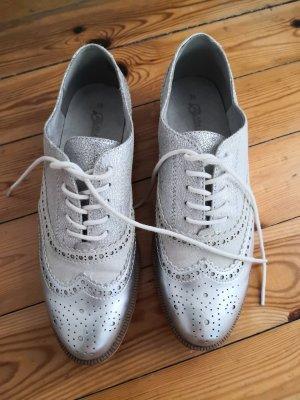 Bellissima Chaussures à lacets blanc-argenté