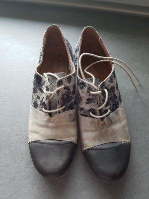 Charme Sznurowane buty jasnobeżowy-ciemnoniebieski