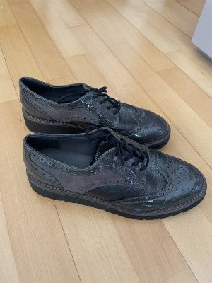 Catwalk Wingtip Shoes grey brown