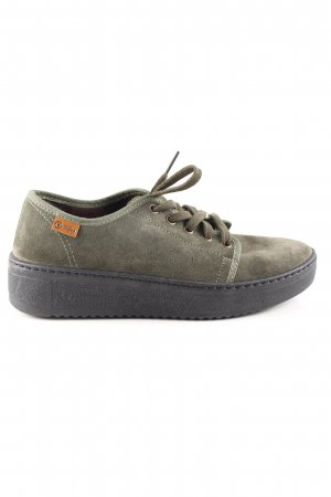 natural world Schnürschuhe khaki Casual-Look