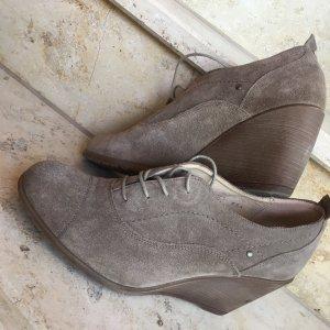 Varese Wedge Booties grey brown