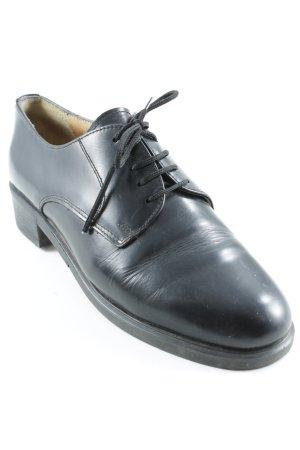 Schnürschuhe schwarz Brit-Look