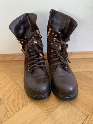 Lace-up Boots gold-colored-brown red