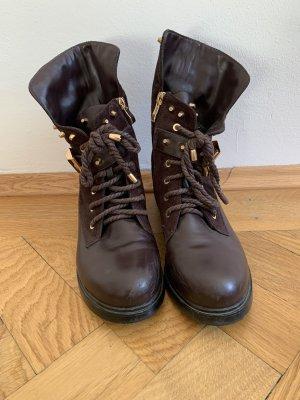 Aanrijg laarzen goud-roodbruin