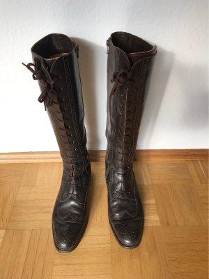 everest Botas con cordones marrón oscuro Cuero