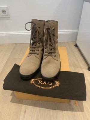 Tod's Botas con cordones marrón claro