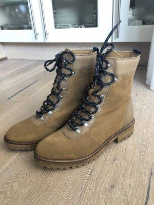 Schnürstiefel aus Veloursleder / Wanderstiefel / Stiefel / Ankle Boots / Lederschuhe / Winterschuhe / Herbstschuhe / H&M