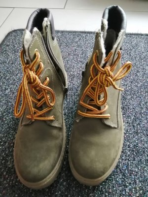 Bullboxer Lace-up Boots ocher-olive green