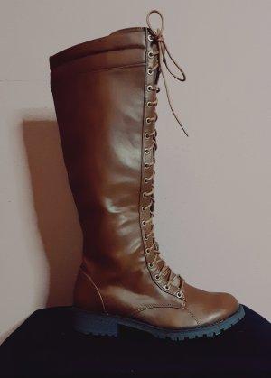 Lace-up Boots cognac-coloured