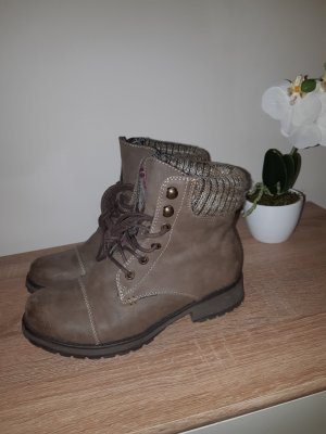 Clara Barson Lace-up Boots grey brown