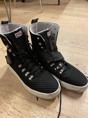 Napapijri Lace-up Boots black-white