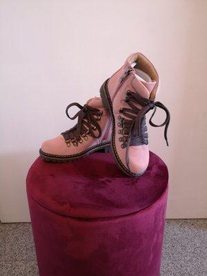 Andrea Conti Stivaletto invernale grigio-rosa chiaro