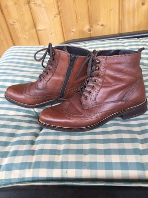 5th Avenue Lace-up Booties brown-black brown