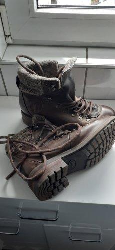 Landrover Winter Booties dark brown leather