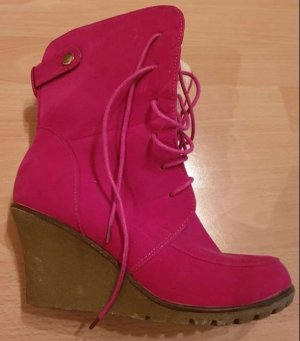 Lace-up Booties raspberry-red-violet
