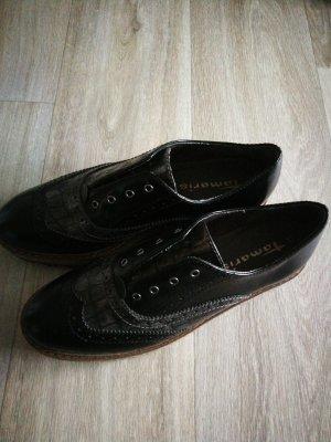 Tamaris Zapatos brogue negro-gris antracita