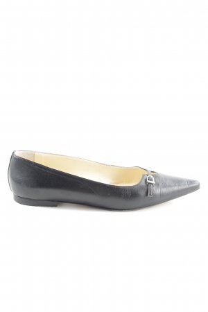 Scho Shoes Milano Ballerinas with Toecap black business style