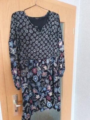 Aniston Midi-jurk zwart-blauw