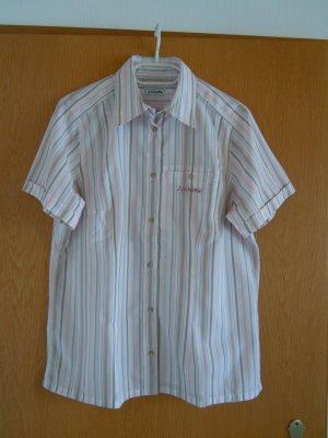 Schöffel Blusa-camisa blanco-rosa empolvado