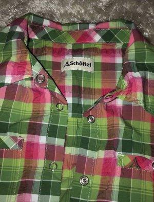 Schöffel Colletto camicia verde-rosa