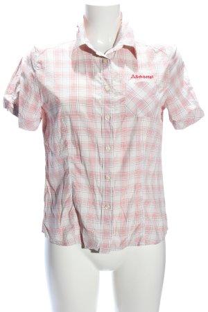 Schöffel Hemd-Bluse pink-weiß Karomuster Business-Look