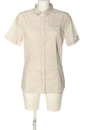 Schöffel Kurzarmhemd creme-lila Allover-Druck Casual-Look