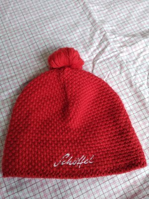 Schöffel Chapeau en tricot rouge