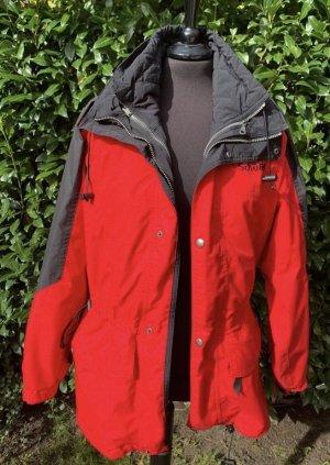 SCHÖFFEL Skijacke Outdoorjacke 2in1 rot schwarz tailliert
