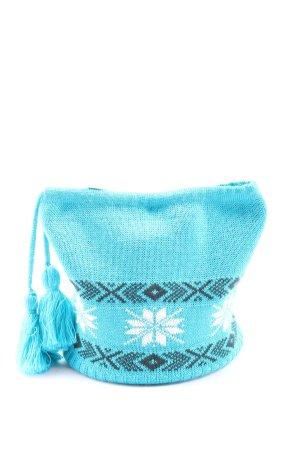 Schöffel Chapeau en tricot bleu motif graphique style décontracté