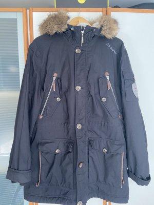 Schöffel Kurtka zimowa czarny-jasnobrązowy