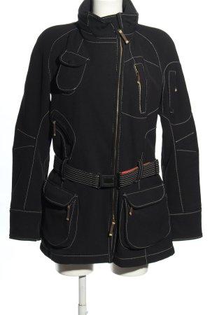 Frauenschuh Lange Jacke schwarz Casual-Look
