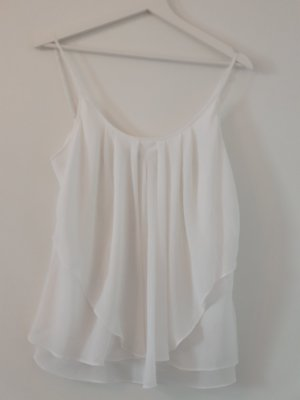 Apart Mouwloze blouse wit Polyester