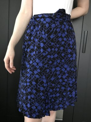 Fiorella Rubino Gonna lavorata a maglia nero-blu Viscosa