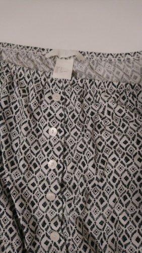 H&M Carmen shirt wit-zwart