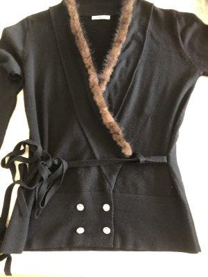 Ambiente Cardigan black-brown wool