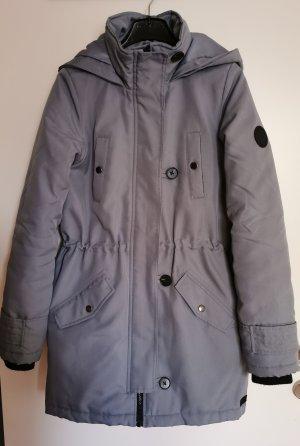 schön-warmer graublauer Mantel
